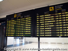 Arrivals Board at Valencia Airport