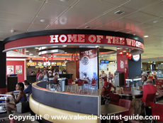 Burger King fast food restaurant at Valencia Airport