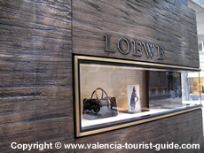 Loewe designer shop in Valencia's shopping district
