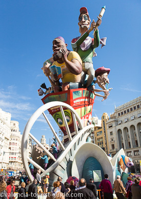 Las Fallas Parade of Caricature figures in Valencia