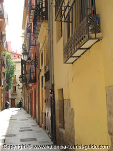 A street in Valencia old town