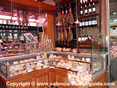 Cheese stall in Valencia's food market - Mercado Central