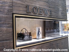Loewe Designer Store on Calle Marques de Dos Aigues