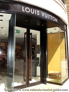 Louis Vuitton in Valencia's affluent neighbourhood