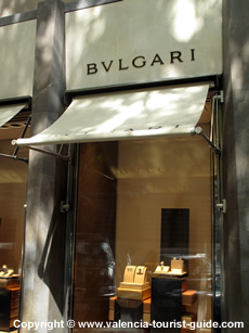 Bulgari shop in Valencia's old town
