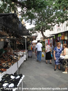 Street market in Valencia old town