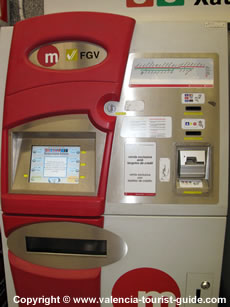 Ticket machine at the metro