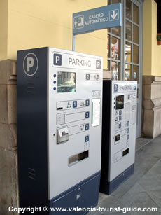 Parking ticket machines at Estació Nord